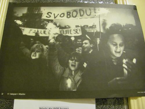 Národní třída - 17.listopad 1989- zdroj dobový plakát.