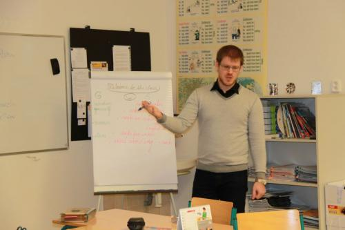 L. Krištoufek byl náš první český host snaprosto plynulou angličtinou