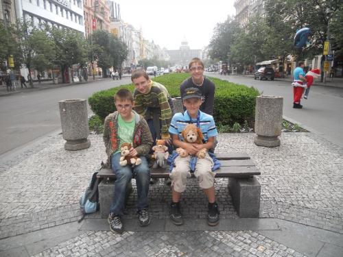 Idylka naVáclavském náměstí.