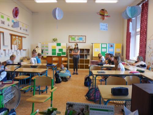 První společné foto všesté třídě