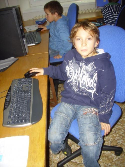 Kryštof vpočítačové učebně