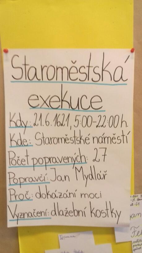 Staroměstská exekuce - VII. B