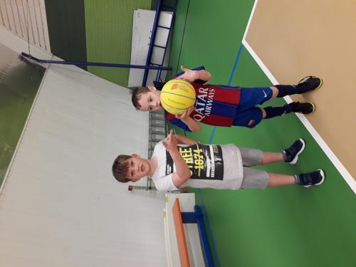 Trénink basketbalu